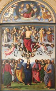 The Ascension of Christ by Perugino
